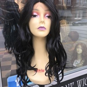 Accessories - Wig lacefront sale Black or dark brown deep wave